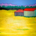 Barn in Mustard Field 001