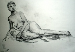 NUDES  - Graphite on Paper -18 x 24
